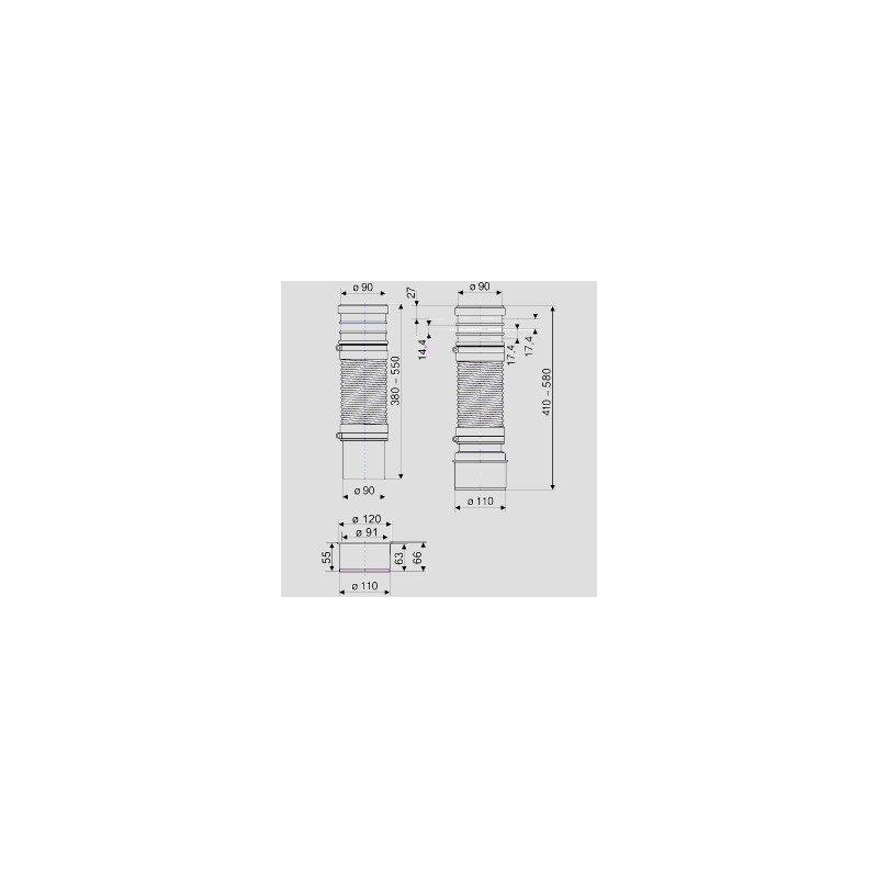 sanit wc anschlussrohr dn90 dn100 56 84. Black Bedroom Furniture Sets. Home Design Ideas